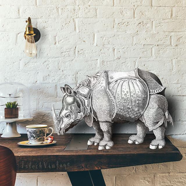 Etsy rhinoceros print - rhinoceros clip art rhino image download png