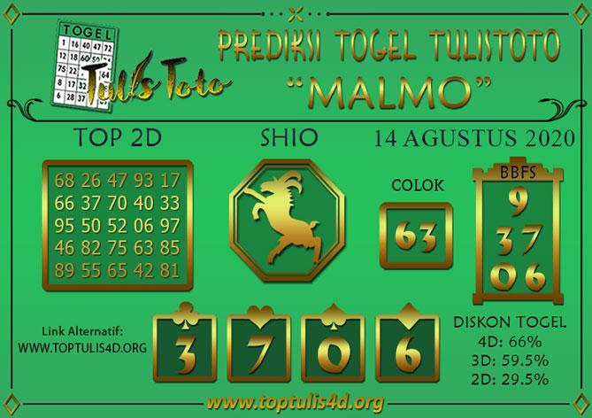 Prediksi Togel MALMO TULISTOTO 14 AGUSTUS 2020