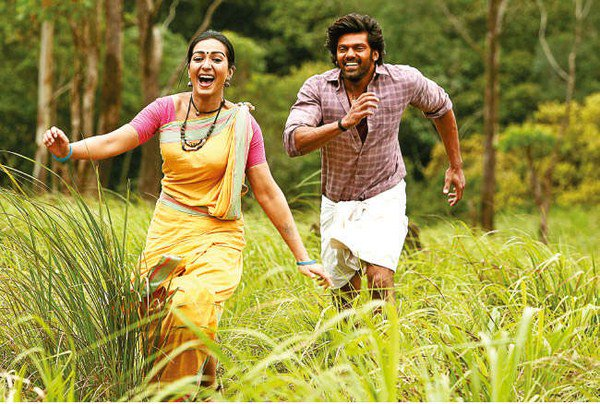 arya, catherine tresa in kadamban movie working stills