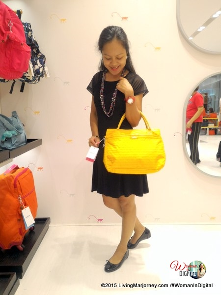 Yellow Kipling Bag