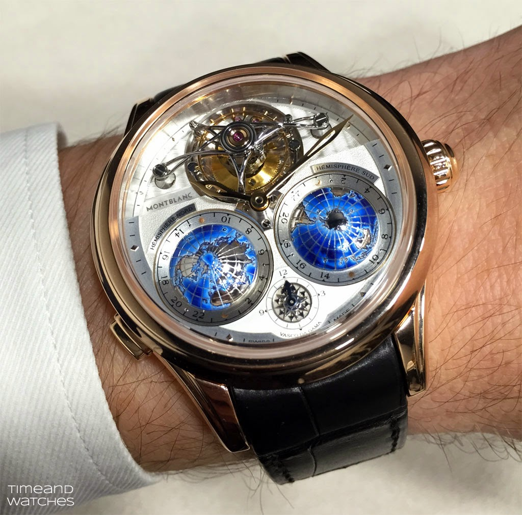 Sihh 2015 montblanc villeret tourbillon cylindrique geospheres time and watches for Vasco watches