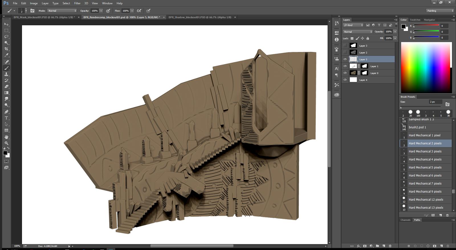 Creating Concept Art Using ZBrush Part 04 (Class: 2D/3D II