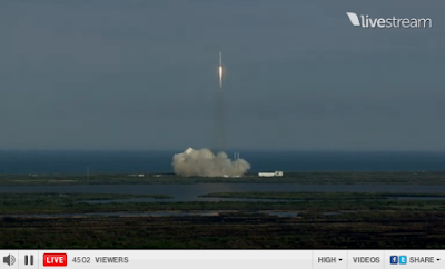 lift-off of the Falcon 9