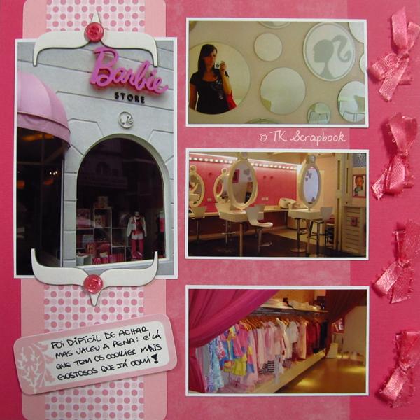 barbie store pagina scrapbook