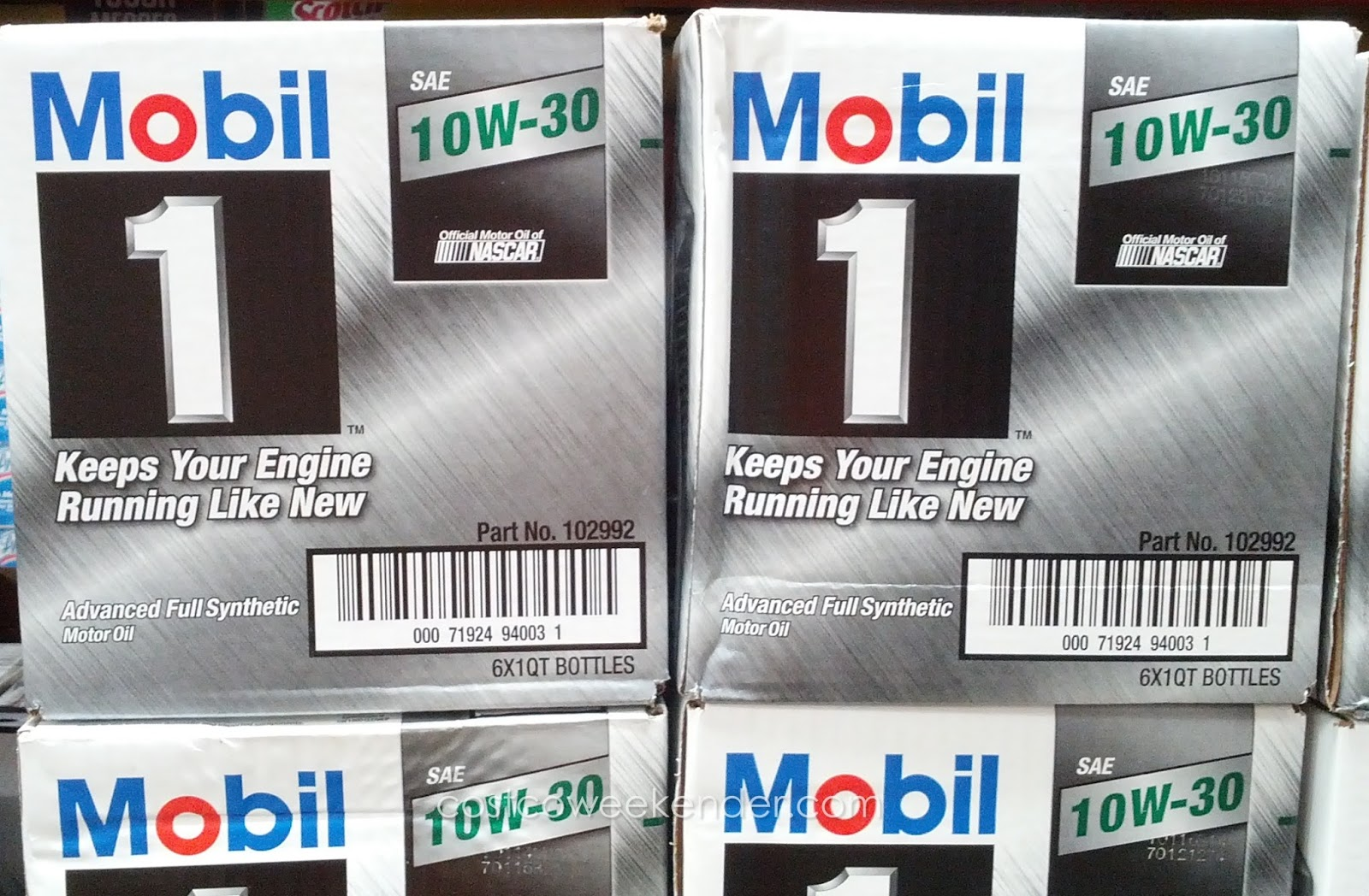 Save money and change your own car's engine oil with Mobil 1 10W-30 synthetic motor oil