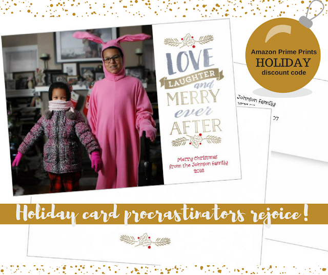 Holiday Card Procrastinators Rejoice! Amazon Prints + a huge discount!