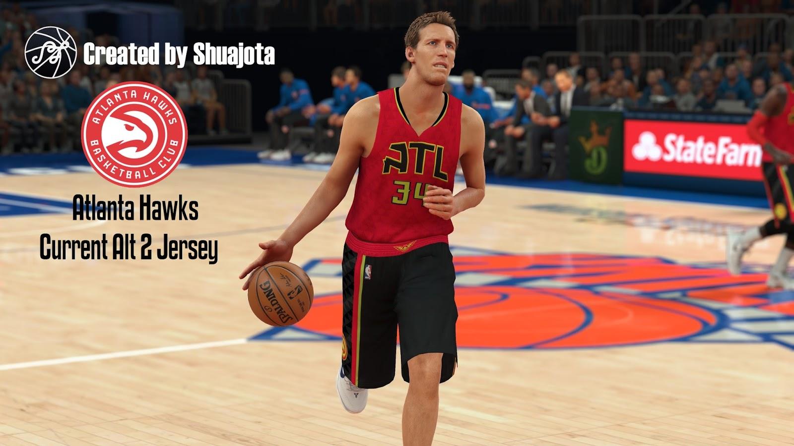 DNA Of Basketball | DNAOBB: NBA 2K17 Atlanta Hawks Current Alt 2 Jersey by Shuajota