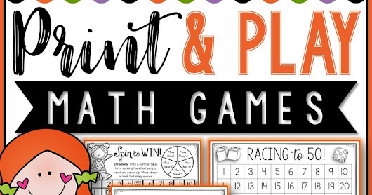 Best Print and Play Math Games for K-2!