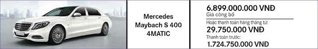 Giá xe Mercedes Maybach S450 4MATIC 2018 tại Mercedes Trường Chinh