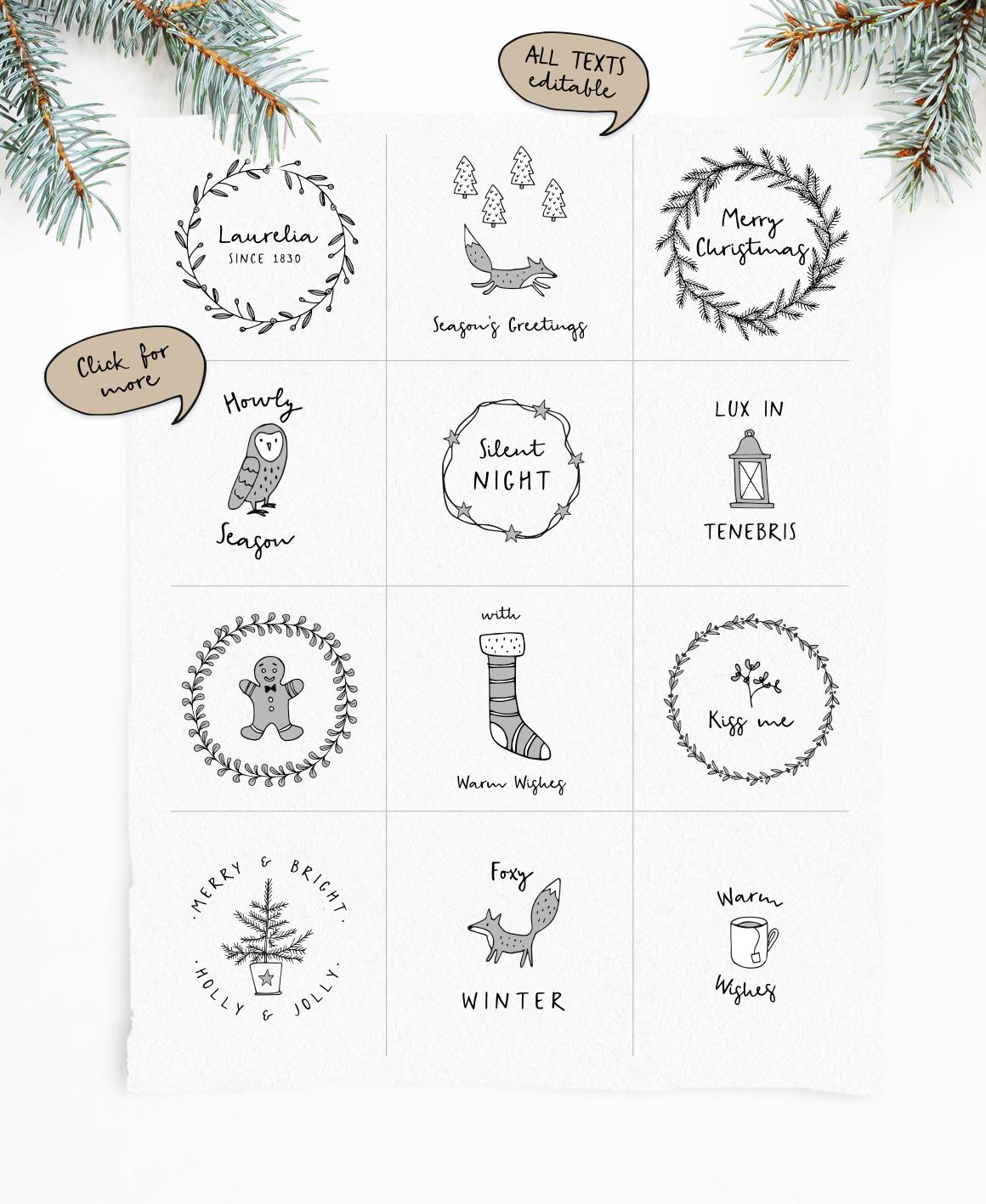 Snowy Christmas Script Font Tabitas World