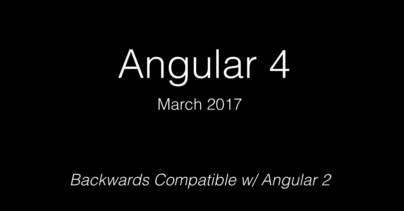 Ok... let me explain: it's going to be Angular 4.0, or just Angular