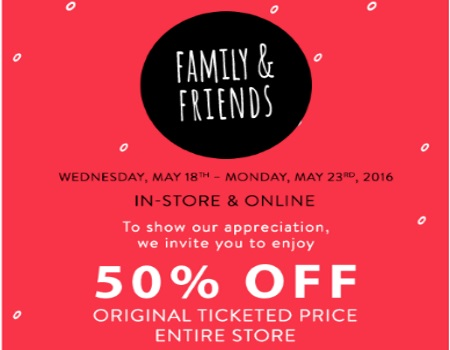 Bench Friends & Family 50% Off Promo Code
