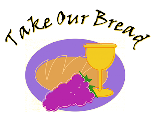 Take our bread, We ask You: take our hearts, We love You. Take our lives, Oh Father; we are Yours, we are Yours. 1 Yours as we stand at the table You set; Yours as we eat the bread our hearts can't forget. We are the sign of Your life with us yet, We are Yours, we are Yours. 2 Your holy people standing washed in Your blood, Spirit filled yet hungry we await Your food. We are poor, but we've brought ourselves The best we could; We are Yours, we are yours.