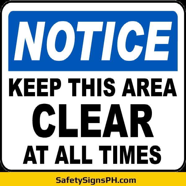 Keep This Area Clear Sign Philippines