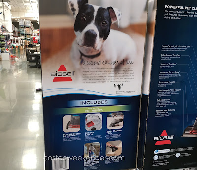Costco 899110 - Bissell ProHeat 2x Professional Pet Carpet Cleaner - great for picking up pet hair