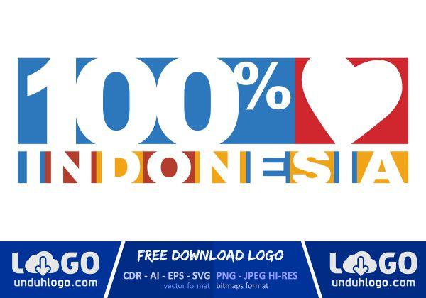 Logo 100% Cinta Indonesia