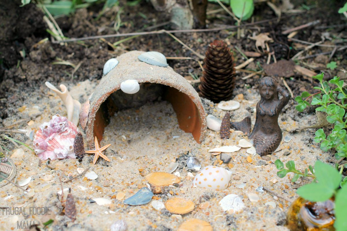 this easy to make diy beach themed fairy garden is the perfect way to preserve and