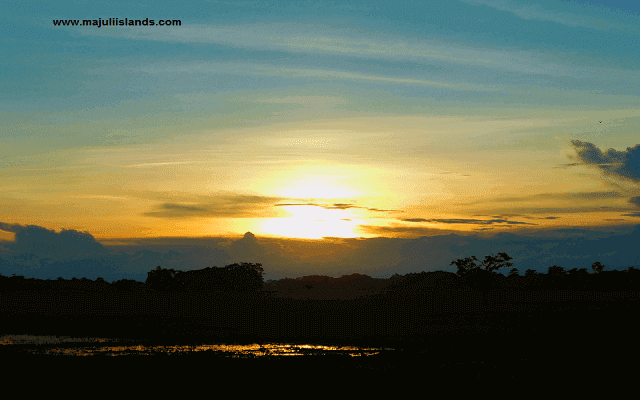 Sunset Of Majuli Island