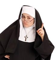 - Una monja tiene una urgente necesidad de ir al baño, así que se mete en un Bar muy popular de la localidad.