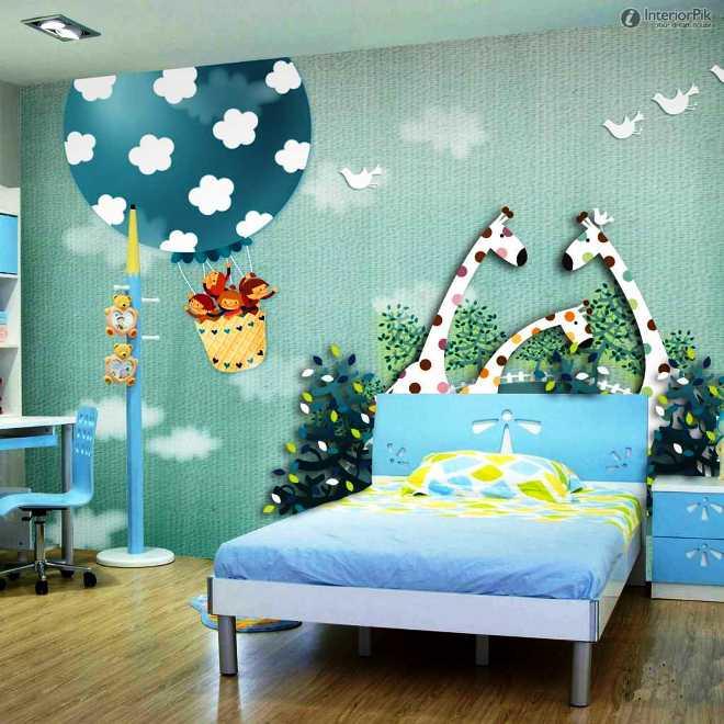 Contoh Motif Wallpaper Kamar Tidur Anak Laki-Laki Tema Binatang