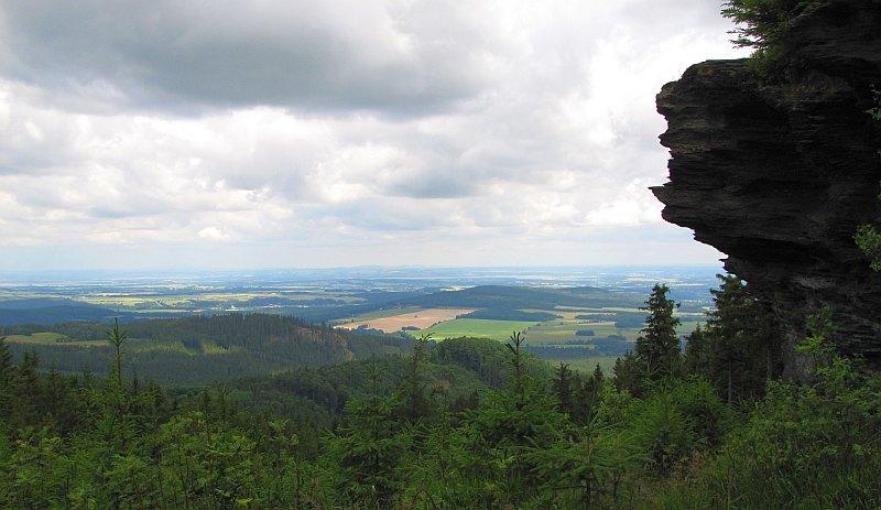 Panorama na Przedgórze Paczkowskie.