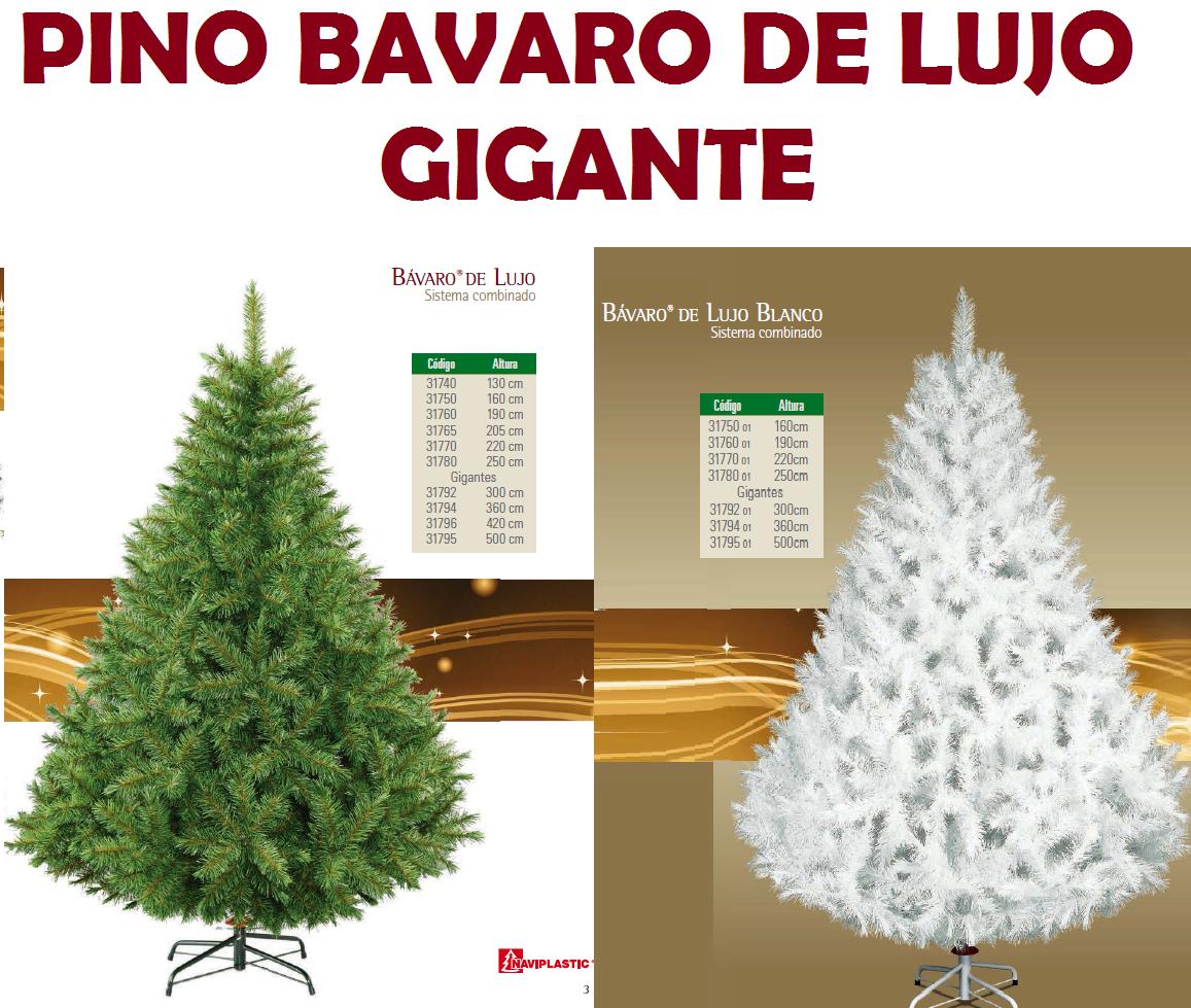 Arbol de navidad artificial gigante bavaro de lujo - Arbol de navidad artificial ...