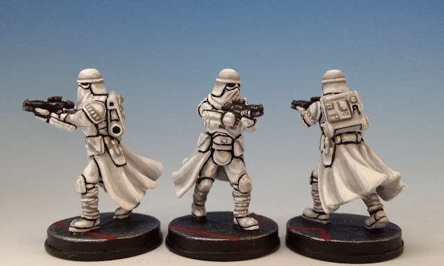 Snowtroopers, Imperial Assault (2016), painted miniature