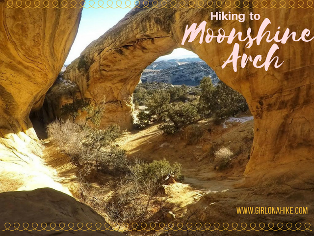 Hiking to Moonshine Arch in Vernal, UT