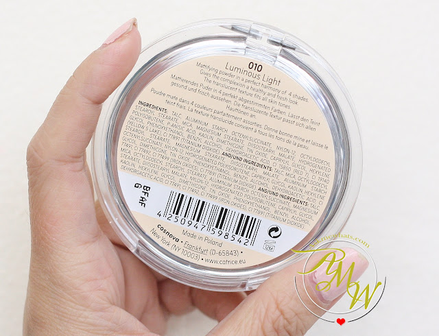 a photo of Catrice Healthy Look Mattifying Powder Translucent 010 Luminous Light Review