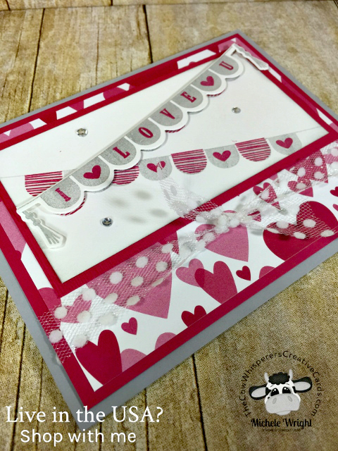 Card, Pick a Pennant, Playful Pennants Framelits, Valentine