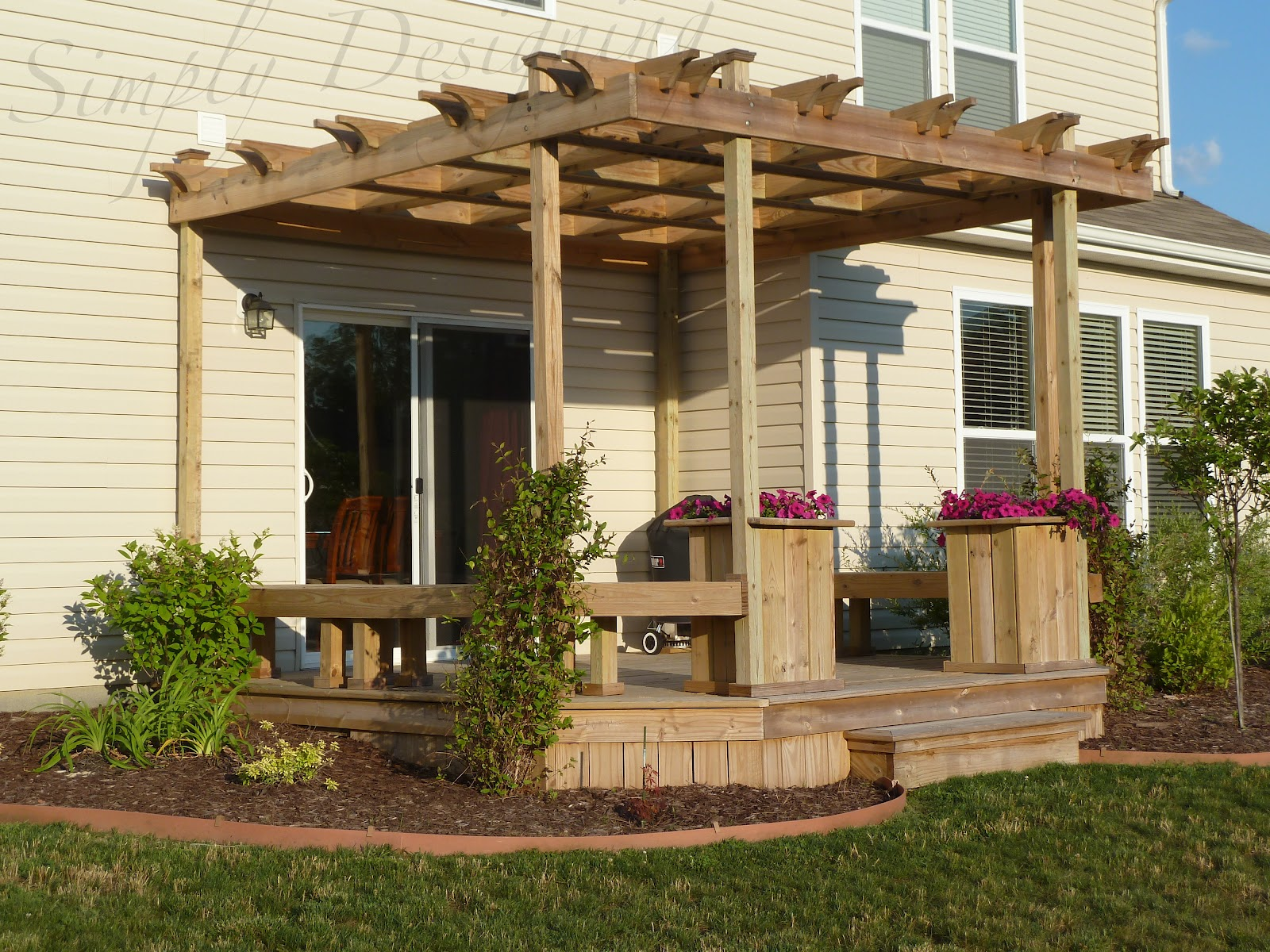 Deck and Pergola | Simply Designing with Ashley on Deck Over Patio Ideas id=55184