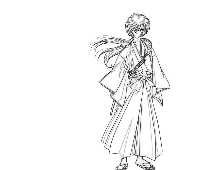 kenshin coloring pages | Kenshin Himura Character | Lean Printing
