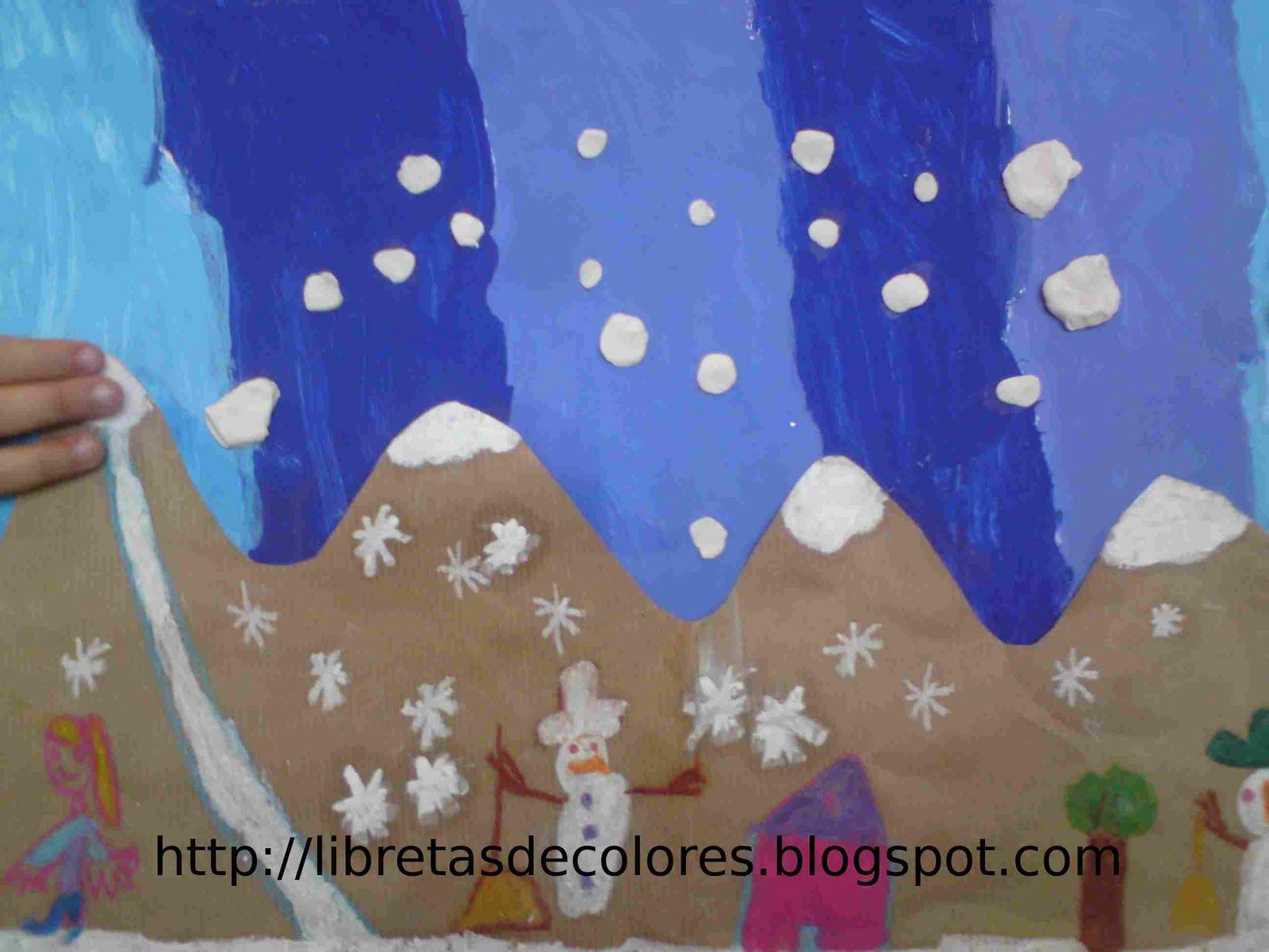 Libretas de colores un collage de invierno for Paisajes para murales de pared