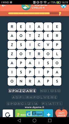 WordBrain 2 soluzioni: Categoria Pulizie (6X7) Livello 4