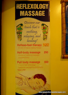 reflexology at Tibiao Fish Spa
