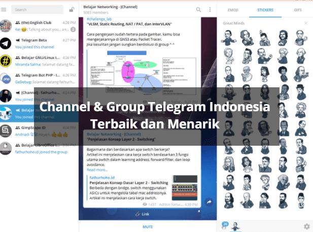 Yuk Gabung ke Grup dan Channel Terbaik di Telegram | fathurhoho id