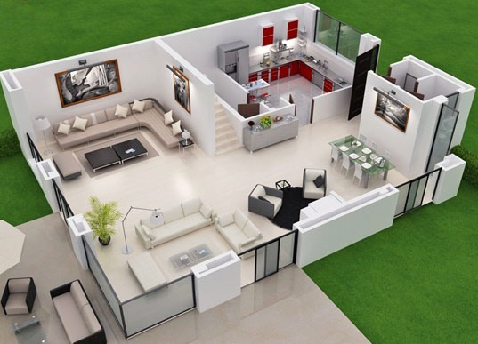 3d pros 3d 2d tours and courses project construction - Casas de campo por dentro ...