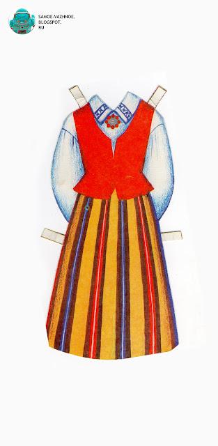 Бумажные куклы и одежда для них СССР, советские. Кукла в национальных костюмах народов. Бумажные куклы в национальных костюмах Эстония Таллин СССР.