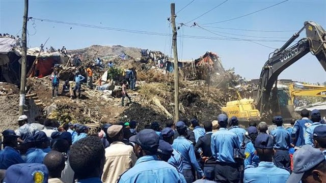 At least 46 people killed as landslide hits landfill in Ethiopian capital, Addis Ababa, at the Koshe Garbage Landfill
