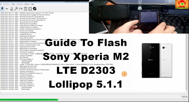 Sony Xperia M2 LTE D2303 Lollipop 5.1.1 Tested Firmware
