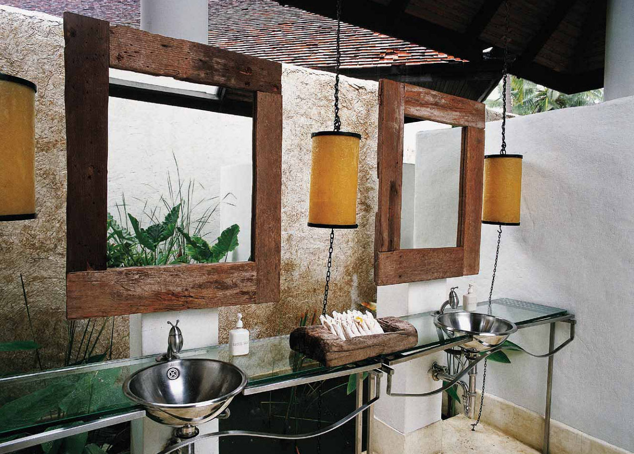 Eva Shivdasani, The Creative Director Of This His And Hers Duo, Has Opted  For Raw Materials And Finishes To Create A Country Style Washroom Here.