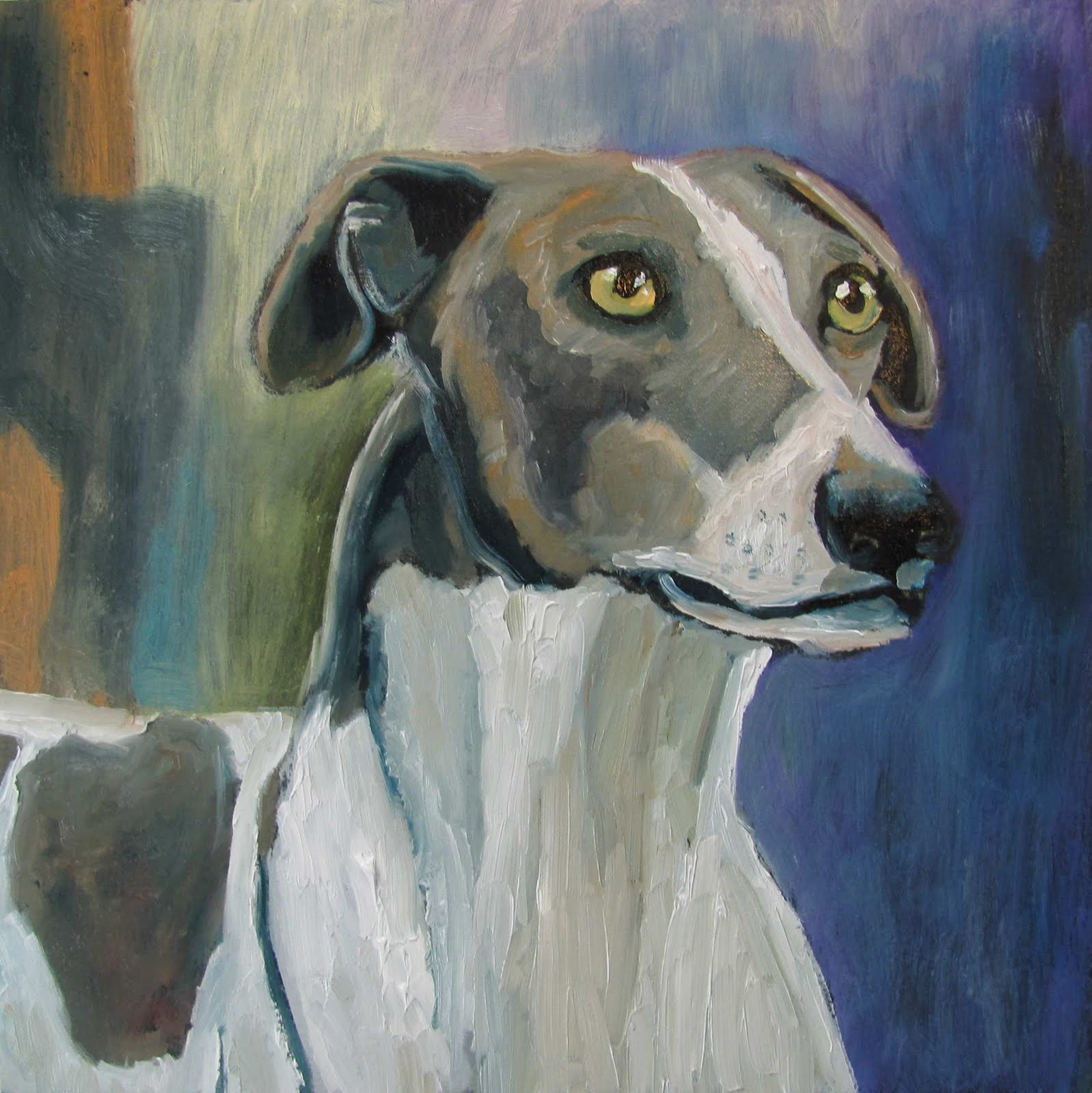 Artist Susan Spohn Greyhound Pet Portrait Dog Paintings