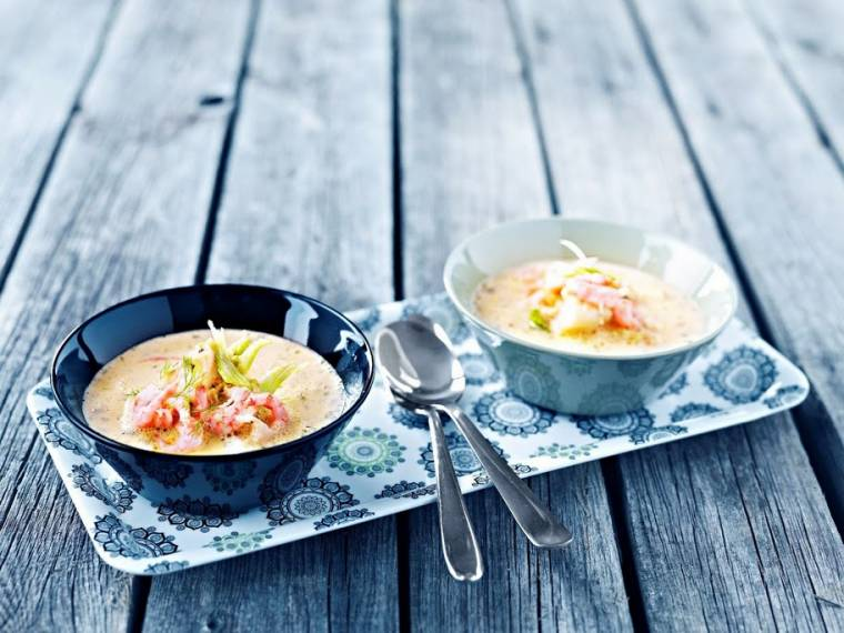 Norwegian Cod And Prawn Soup With Fennel Recipe