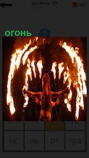 1100 слов женщина показывает зрелище с огнем в руках 29 уровень