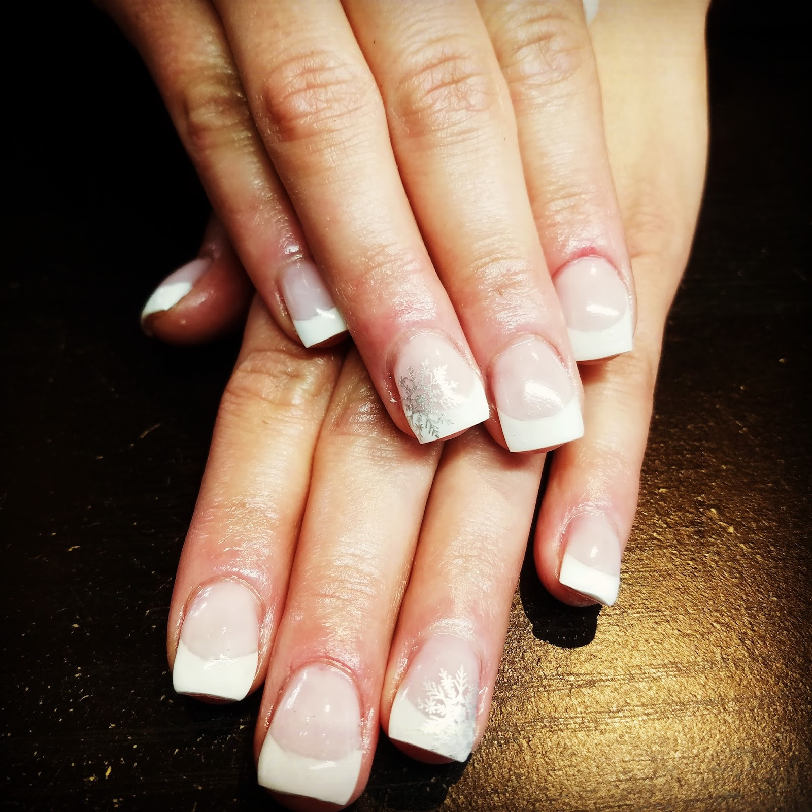 Hair By Melanie: Classic French Gel nails. So nice.