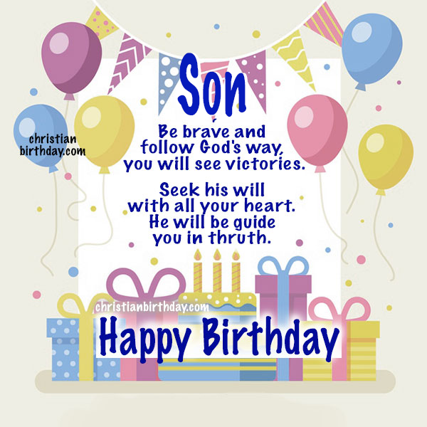 Wishes for my son, Religious Birthday Quotes for my Son. Happy Birthday Christian Phrases, bible verses and wishes for my child, Mery Bracho christian cards.