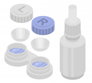 one set of take care contact lenses pict