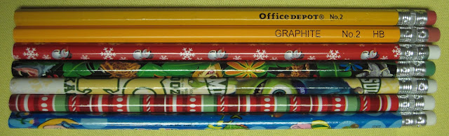 Pencil brand reviews for OCC shoeboxes.