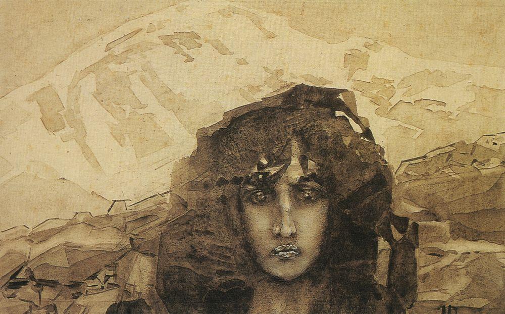 Mikhail Vrubel - Demon Head