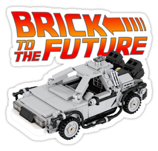 Brick To The Future Lego Funny 80s Sticker